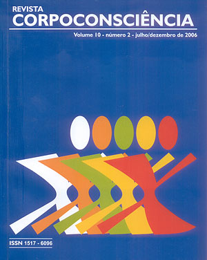 Visualizar Revista Corpoconsciência, v. 10, nº2, jul./dez., 2006