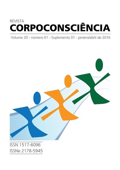 Visualizar Revista Corpoconsciência, v. 20, nº1, jan./abr., 2016, Suplemento 1, I Congresso Internacional de Pedagogia do Esporte SESC/FCA-UNICAMP