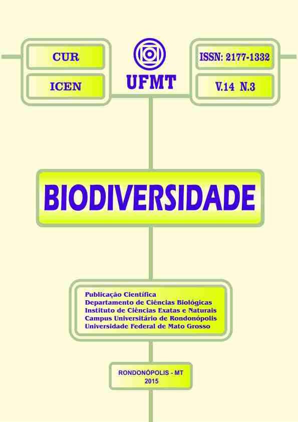 Visualizar v. 14 n. 3 (2015): Revista Biodiversidade