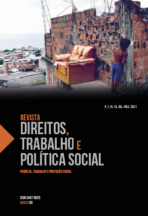 Revista Direitos, Trabalho e Política Social, v 7, n 13